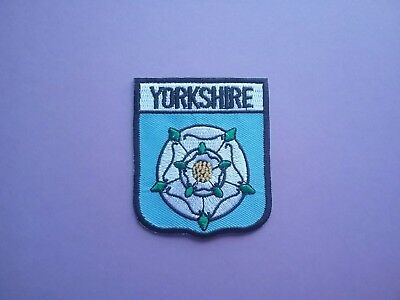 £3.19 • Buy Yorkshire Shield Flag Patch White Rose God's County SEW ON & IRON ON PATCH