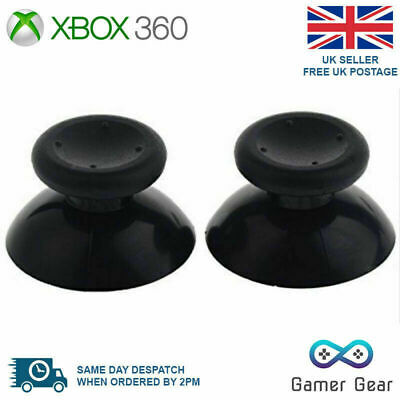 $2.43 • Buy 2 X Xbox 360 Analog Thumb Sticks Thumbsticks Replacements - Black