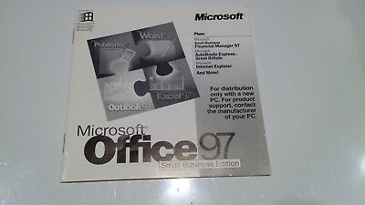 Microsoft Windows Office 97 Small Business Edition With AutoRoute (2 Disks) +Key • 8£