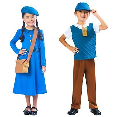 Kids Historical Delivery Blue Boy Girl Costume Book Week Children's Fancy Dress  • 10.02£