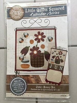 $8 • Buy Little Quilts Squared Calendar Series --  Honey Bee (June)