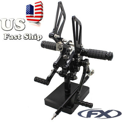 $103.99 • Buy FXCNC Motorcycle Footrest Fotopeg Foot Pegs Rearsets For