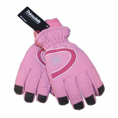 £4.99 • Buy Ladies Ski Gloves With Thinsulate Fleece Lining + Grippers On Palm And Fingers