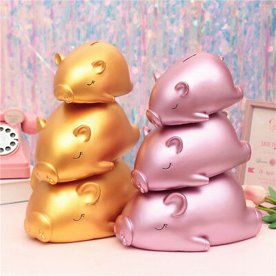 Angel Piggy Bank With Wings Sleeping Snore Metallic Gold Gift Save Money Rich  • 30.24£