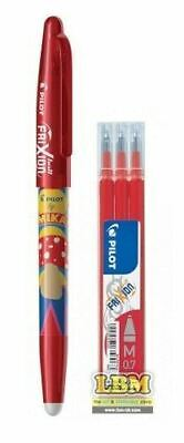 £5.99 • Buy Pilot FriXion BALL 07 MIKA Design Erasable Rollerball Pen RED Ink + Refill Pack