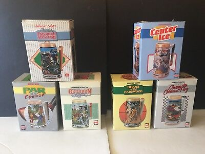 $ CDN90.75 • Buy 1990s Budweiser Salutes Sports History Stein Set Of 6 W/Boxes