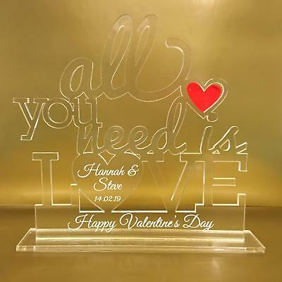 AU14.74 • Buy Personalised Valentines Gift Day For Him Or Her Husband Wife Boyfriend Plaque
