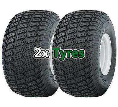 Pair Of 15x6.00-6 Wanda P332 Lawn Mower Garden Tractor- Two Turf Tyres - 4PLY • 52.95£