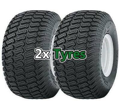 Pair Of 20x8.00-8 Wanda P332 Lawn Mower Garden Tractor- Two Turf Tyres - 4PLY • 84.95£