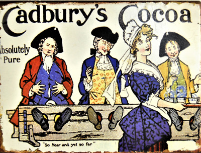 £11.99 • Buy Kitchen Plaque Metal Wall Sign Vintage Style Cadburys Cocoa Powder Chocolate