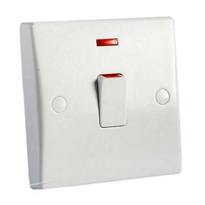 £6.95 • Buy GET GU2014 Double Pole Switch With Neon & Flex Outlet - 20 Amp