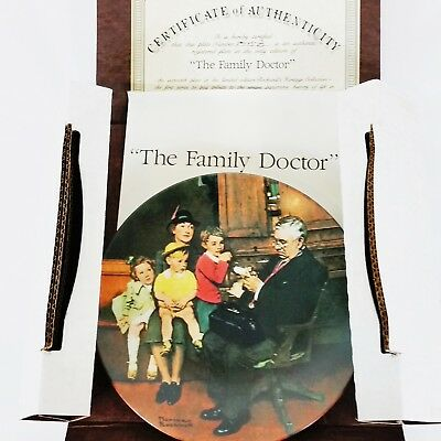 $ CDN20.98 • Buy Edwin M Knowles The Family Doctor Norman Rockwell 1992 Ceramic Plate No 8945B