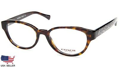 e181112fcd NEW COACH HC 6069 5120 DARK TORTOISE EYEGLASSES GLASSES FRAME 49-17-135  B36mm