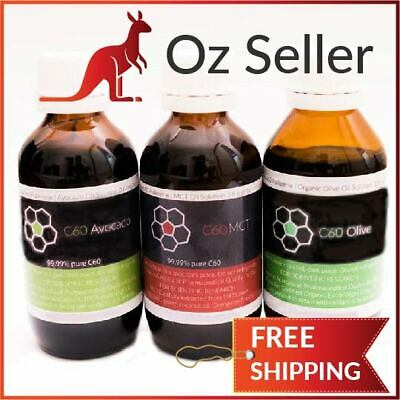AU187 • Buy C60  MCT & Avocado & Olive - 100ml Each - Try All Three - 99.99% Carbon 50