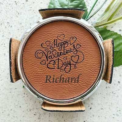 AU46 • Buy Valentines Day Personalised Leatherete Coaster Set Engraved Gift For Him Husband