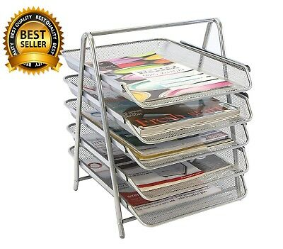 £28.94 • Buy Mesh 5 Tier Tray A Frame Construction Wide Mouth Lightweight Iconic Silver Wire