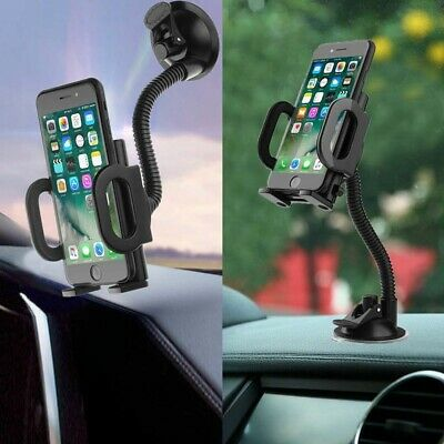 Universal In-car Mobile Phone Sat Nav Pda Gps Holder With Locking Suction Mount • 6.25£