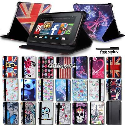 £4.99 • Buy FOLIO LEATHER STAND CASE COVER For Amazon Kindle Fire 7  / HD 8 / HD 10  Tablet