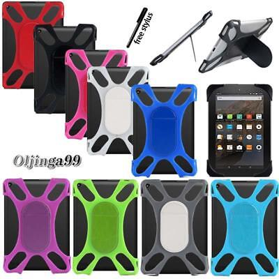 Tablet Shockproof Silicone Stand Cover Case For Amazon Kindle Fire 7  / HD 8  • 3.49£