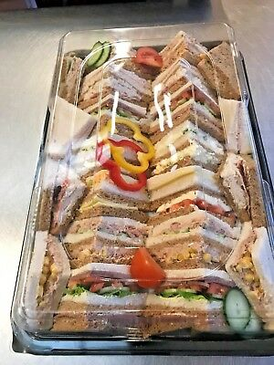 Catering Trays - 5 X Buffet Platter Trays With Lids - Large - 450mm X 300mm Appx • 14.75£