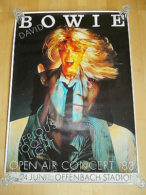 $390 • Buy +++ 1983 DAVID BOWIE Concert Subway Poster Offenbach Germany By Kieser 1st Print