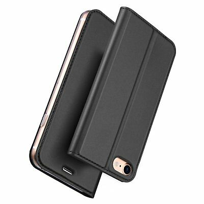 Phone Case For IPhone Faux PU Leather Black Wallet Cover Dux Ducis SkinPro UK • 7.99£