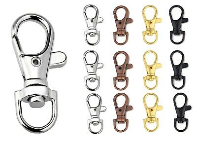 Swivel Lobster Clasps Trigger Clips Bag Key Purse Ring Snap Hook Keychain 37mm • 2.99£