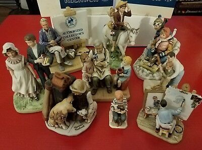$ CDN157.84 • Buy Norman Rockwell Lot (9) Of Figurines, Circa 1974-1986, NORMAN ROCKWELL MUSEUM