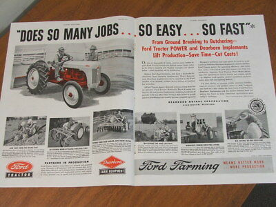 AU12.90 • Buy 1951 Ford Tractor Dearborn Implements Original US Large Two Page Advertisement