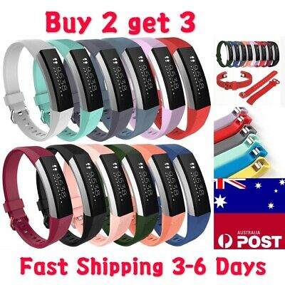 AU5.25 • Buy Replacement Band Fitbit Alta HR Silicone Wrist Watch Band Secure Buckle