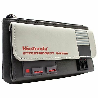 New Official Nes Console Theme Grey Coin & Card Clutch Purse • 19.49£