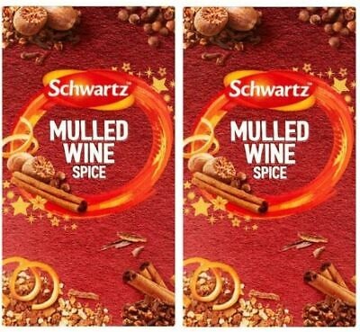 £11.99 • Buy Schwartz Christmas Mulled Wine Spice (2 Boxes, Total 12 Sachets)