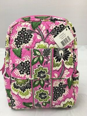 3cf7d0ea459a Vera Bradley RETIRED Priscilla Pink Backpack Purse Bookbag Travel Bag RARE  NWT • 65.00