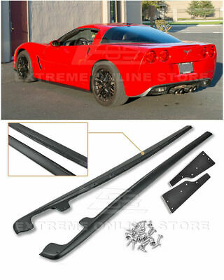 Zr1 Style Abs Side Skirts For Corvette Base Only 05-13 C6 Rocker Kit • 149.99$