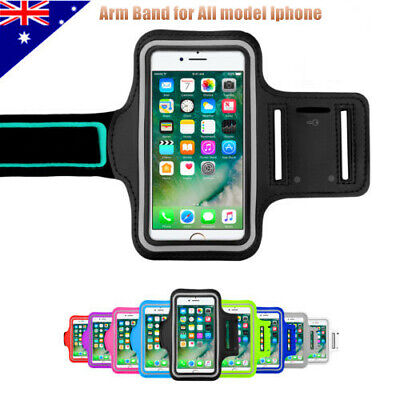 AU4.55 • Buy Sport Gym Running Exercise Jogging Armband IPhone XS Max XR X 8 Plus Arm Band OZ