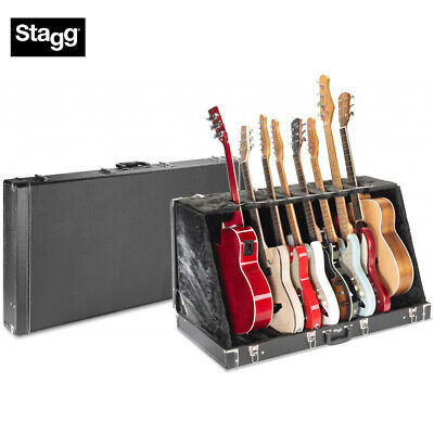 $ CDN266.88 • Buy Stagg GDC-8 Universal Guitar Stand Case For 8 Electrics Or 4 Acoustics - Black