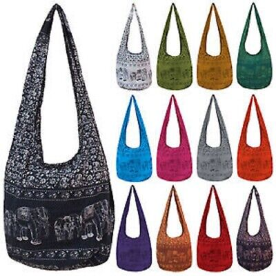 AU19.95 • Buy Elephant Print Long Hobo Bag Brand New Made In Chiang Mai