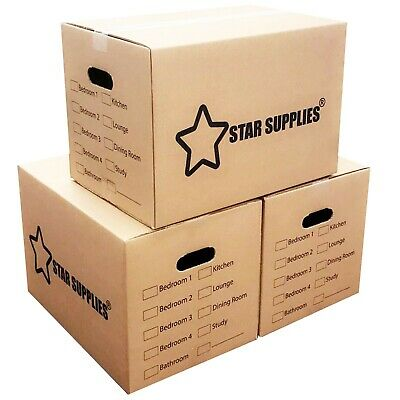 NEW X LARGE DOUBLE WALL CARDBOARD BOXES - House Removal Moving Packing Storage • 17.07£