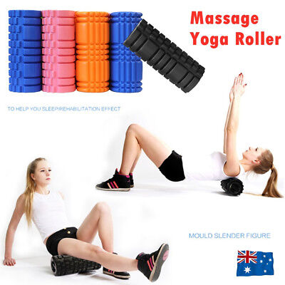 AU20.50 • Buy Physio Pilates EVA PVC Foam Yoga Roller Gym Back Training Exercise Massage Grid