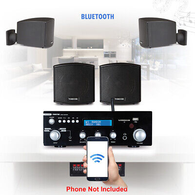 Surround Speaker And Amplifier Home HiFi Bluetooth Music Sound System 4x 2.5  • 259£