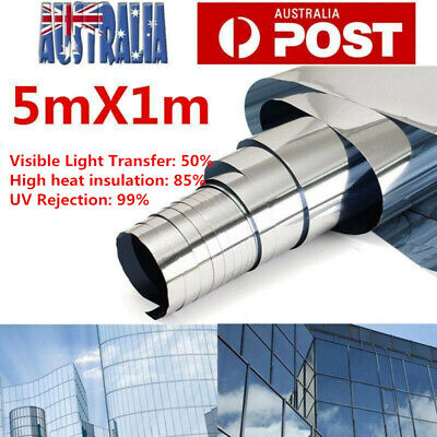 AU49.77 • Buy Car Home Window Tint Film Silver Roll Mirror Privacy Tinting Reflective 100cm*5m