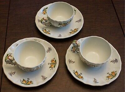 $ CDN79.34 • Buy Dishes Pescara Laveno Diamondstone Italian 3 Cups & 3 Saucers,No Cracks Or Chips