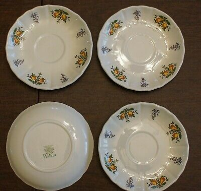 $ CDN37.03 • Buy Dishes Pescara Laveno Diamondstone Italian 4 (5 3/4 )Saucers, No Cracks Or Chips