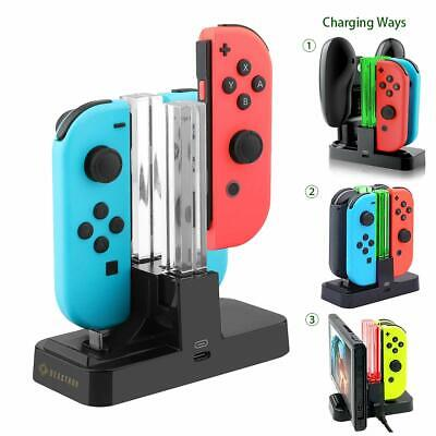 $12.95 • Buy 5 In 1 Controller Charger Stand LED Charging Dock For Nintendo Switch Joy-Con