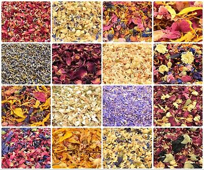 Edible Dried Flowers & Petals 62+ Types! Tea Cooking Gin Tonic Coctail Garnishes • 3.24£