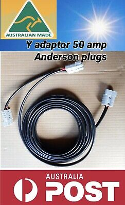 AU32.99 • Buy 2m Twin Tycab Auto 6mm Cable Double Y Adaptor With 50 Amp Anderson Style Plug