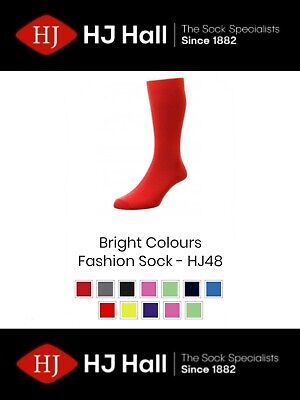 £3.49 • Buy Mens HJ Hall Classic Collection HJ48 Cotton Rich Bright Coloured Socks UK 6-13