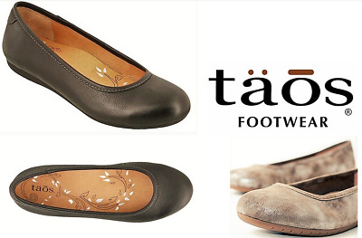 New Taos Shoes Rascal Ladies Leather Comfort Ballet Flat Shoes With Arch Support • 66.51£