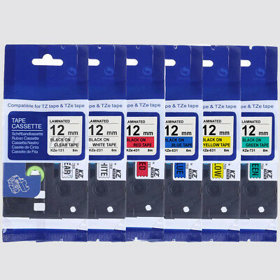 £20.99 • Buy UK Compatible For Brother Tze Tz Label Tape P-Touch Laminated 18mm, 12mm, 9mm