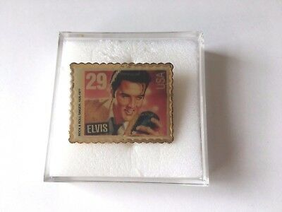 Collectible ELVIS Presley 29 Cent Stamp Pin 1992 USPS Commemorative Lapel Hat O 499